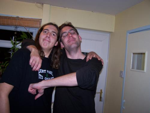 Matt with his brother Rob